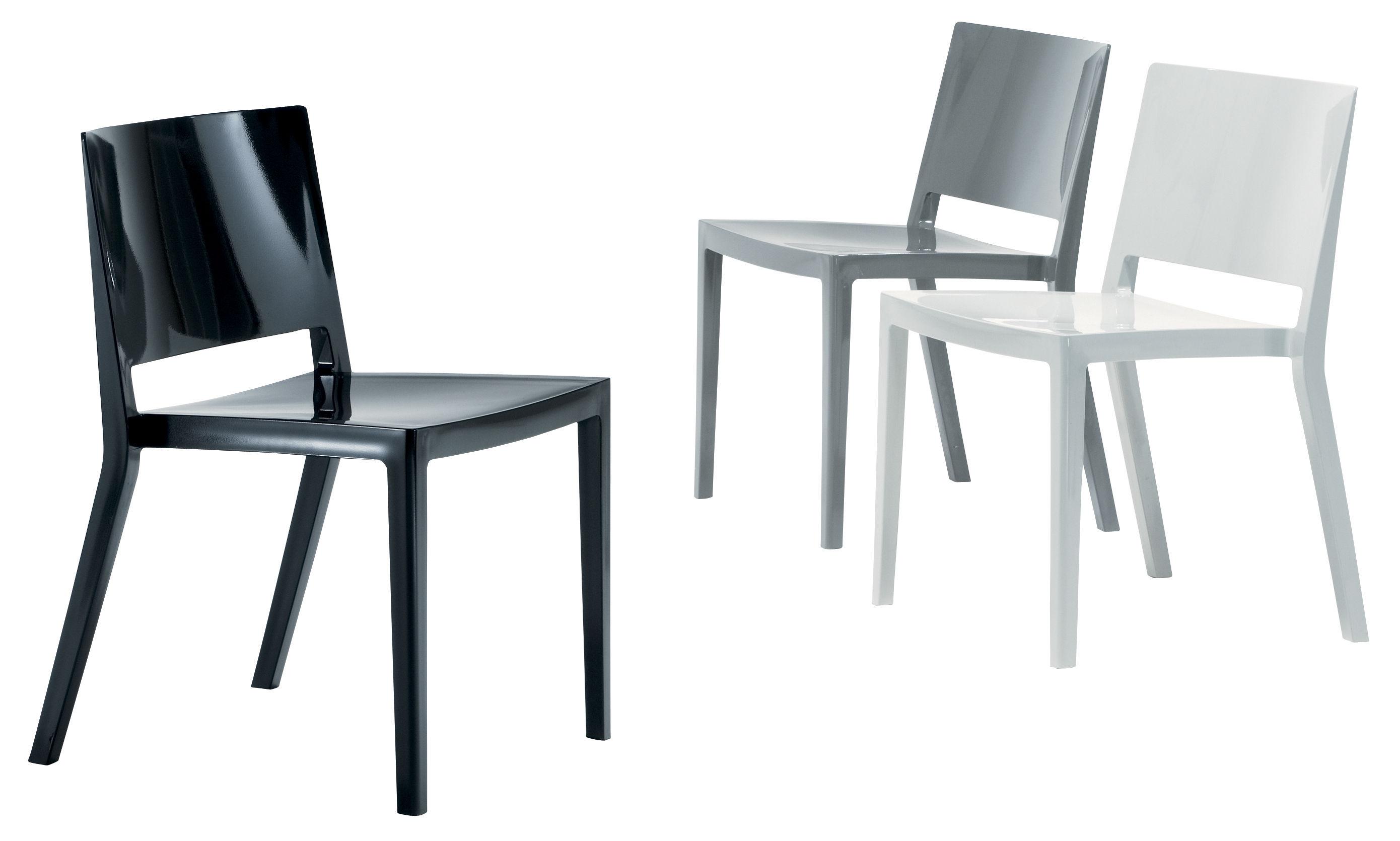 Scopri Sedia Lizz, Nero lucido di Kartell, Made In Design Italia
