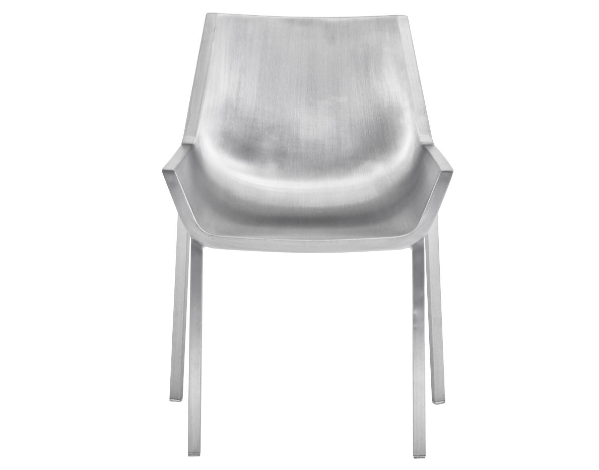 Arredamento - Sedie  - Sedia Sezz di Emeco - Alluminio spazzolato - Aluminium recyclé finition brossé