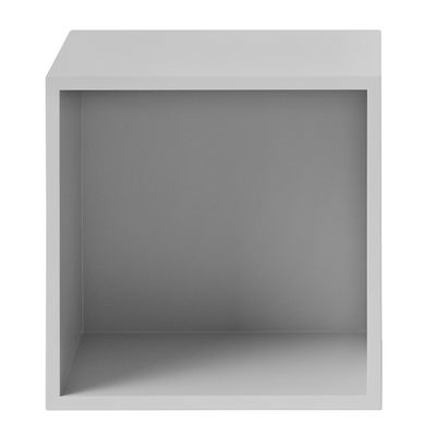 Furniture - Bookcases & Bookshelves - Stacked Shelf - Medium square unit with bottom by Muuto - Light grey - Painted MDF