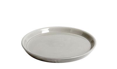 Déco - Pots et plantes - Soucoupe pour pot Botanical Large / Ø18 cm - Hay - Soucoupe / Gris - Céramique