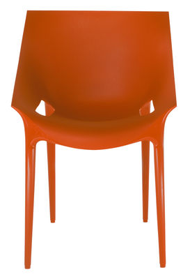 Furniture - Chairs - Dr. YES Stackable armchair - Polypropylene by Kartell - Orangey red - Polypropylene
