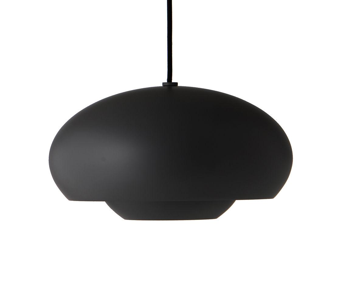 Luminaire - Suspensions - Suspension Champ / Ø 30 cm - Frandsen - Noir - Aluminium peint