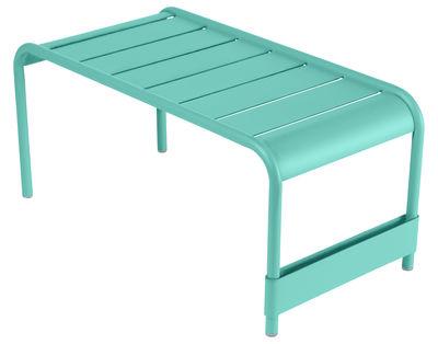 Table basse Luxembourg / Banc - L 86 cm - Fermob bleu lagune en métal