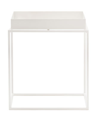 Table basse Tray H 40 cm / 40 x 40 cm - Carré - Hay blanc en métal