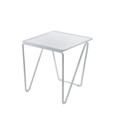 Table d'appoint Fish & Fish / 30 x 30 x H 42 cm - Métal perforé - Serax blanc en métal