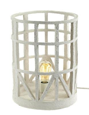 Lighting - Table Lamps - Marie Table lamp - / Papier recyclé - Taille L by Serax - Beige / Taille L -  Papier mâché recyclé