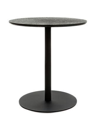 Table Terrazzo / Ø 70 cm - XL Boom noir en pierre