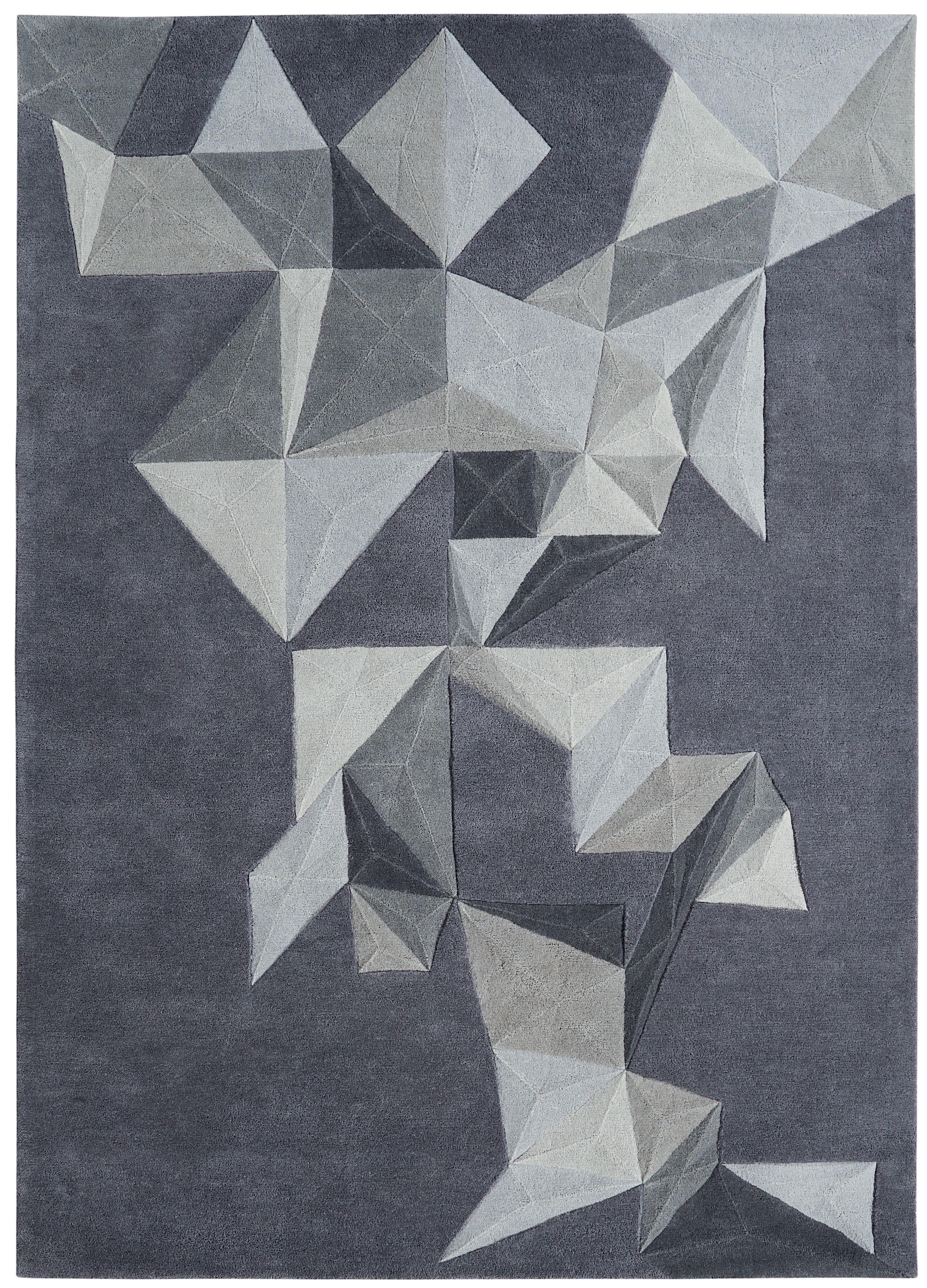 Déco - Tapis - Tapis Pliages by Daniel Hechter / 170 x 240 cm - Tufté main - Toulemonde Bochart - Gris - Laine