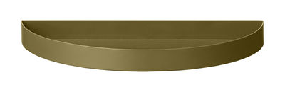 Tableware - Trays and serving dishes - Unity Tray - / Semi-circle - L 21.5 cm by AYTM - Brushed green - Painted iron