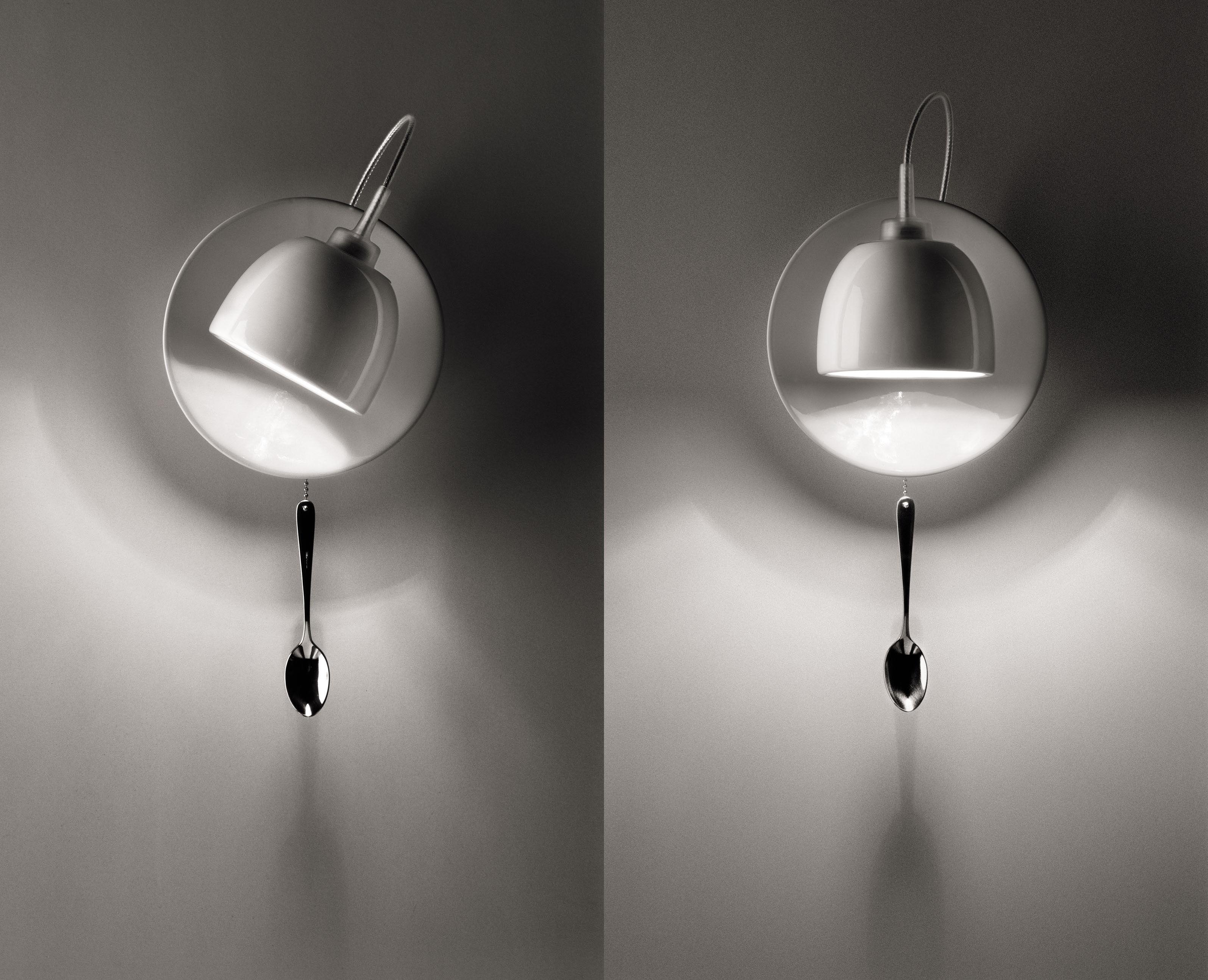 Light au lait applique con presa lampada bianco porcellana by