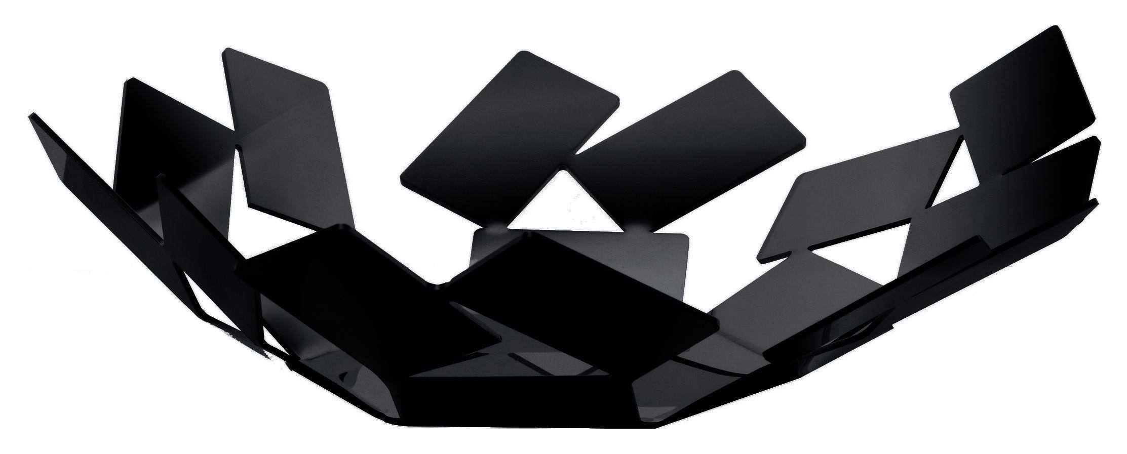 Accessori moda - Accessori bagno - Cesto La Stanza dello Scirocco - Ø 24 cm x h 6 cm di Alessi - Nero - Acciaio inossidabile