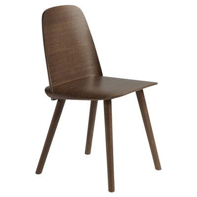 Furniture - Chairs - Nerd Chair - / Wood by Muuto - Dark wood - Tinted oak plywood, Tinted oak wood