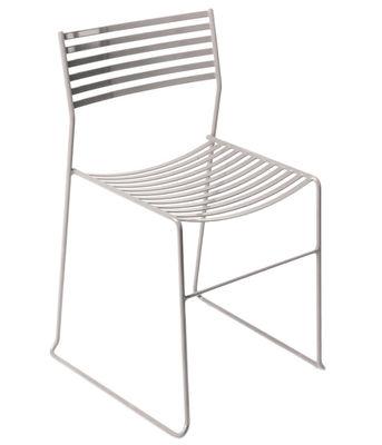 Mobilier - Chaises, fauteuils de salle à manger - Chaise empilable Aero / Métal - Emu - Aluminium - Acier laqué