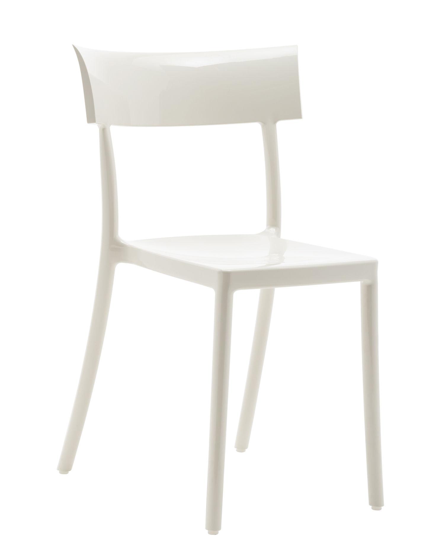 Mobilier - Chaises, fauteuils de salle à manger - Chaise empilable Generic Catwalk / Polycarbonate - Kartell - Blanc - Polycarbonate