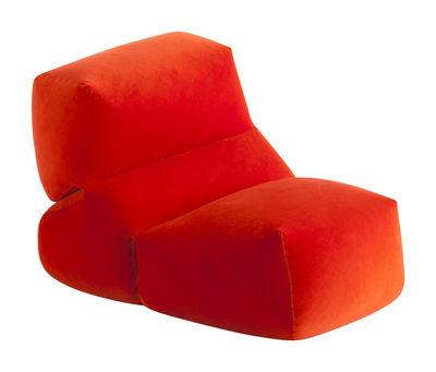 0a1c852b542f88 Chauffeuse Grapy   Velours - Gan rouge orangé en tissu