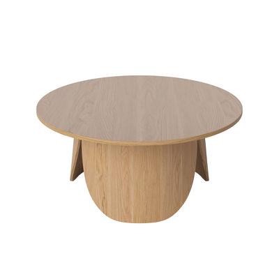 Furniture - Coffee Tables - Peyote Large Coffee table - / Ø 80 x H 35 cm by Bolia - Large / Oak - Oak plywood FSC