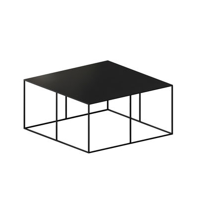 Möbel - Couchtische - Slim Irony Couchtisch / 70 x 70 x H 34 cm - Zeus - Kupfrig-schwarz - Stahl