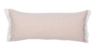 Coussin d'extérieur Evasion / 35 x 70 cm - Fermob blanc/rose/orange en tissu