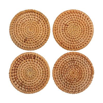 Arts de la table - Saladiers, coupes et bols - Dessous de verre / Rotin - Set de 4 - & klevering - Rotin - Rotin