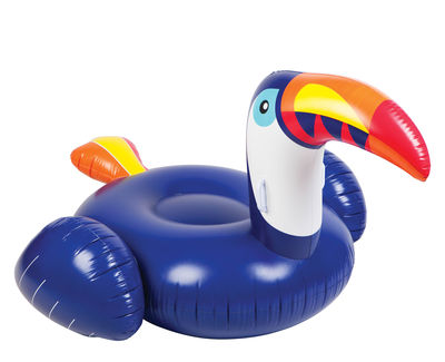 Decoration - Children's Home Accessories - Float inflatable - Toucan luxe  / Ø 130 cm by Sunnylife - Blue - High resistance PVC
