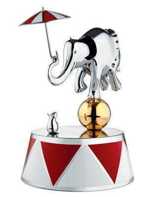 Decoration - Children's Home Accessories - Ballerina Music box - Circus - Numbered limited edition by Alessi - Stainless steel - Painted stainless steel