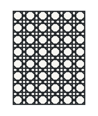 Decoration - Rugs - Cannage Outdoor rug - / 99 x 150 cm - Vinyl by PÔDEVACHE - Black - Vinal