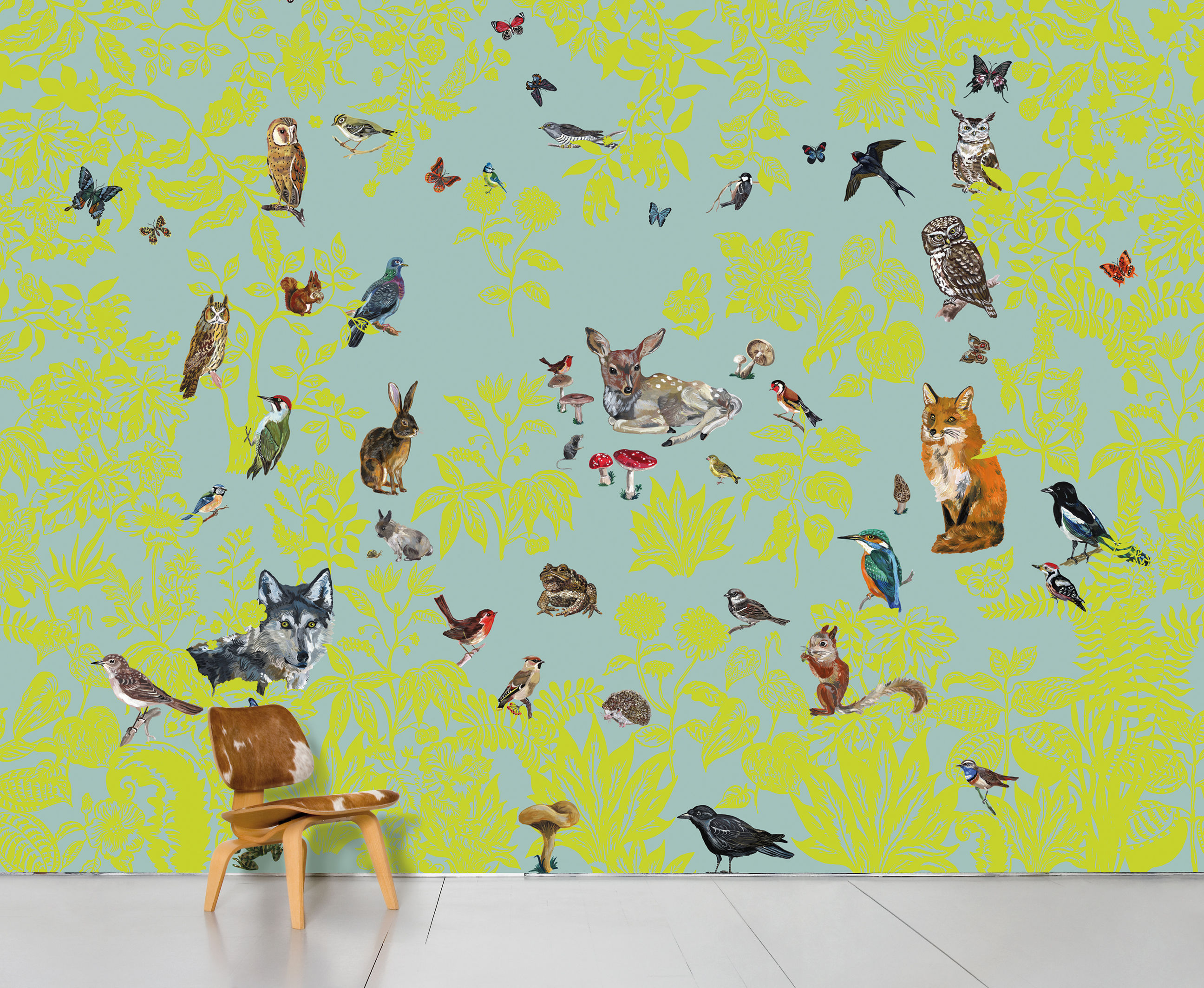 Decoration - Wallpaper & Wall Stickers - Fôret verte Panoramic Wallpaper by Domestic - Green - Intisse paper