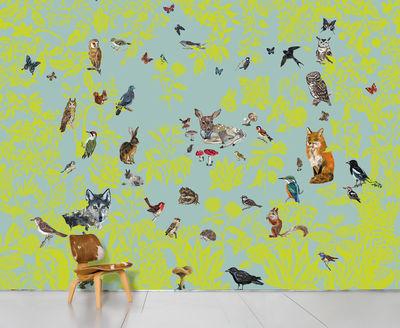 Déco - Stickers, papiers peints & posters - Papier peint panoramique Fôret verte / 8 lés - L 372 x H 300 cm - Domestic - Fôret verte - Papier intissé
