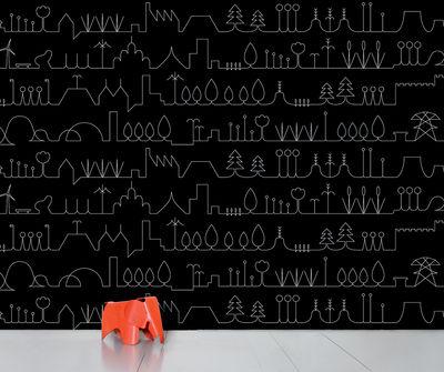 Papier peint panoramique WallpaperLab Promenade / 8 lés - L 372 x H 300 cm - Domestic blanc/noir en papier
