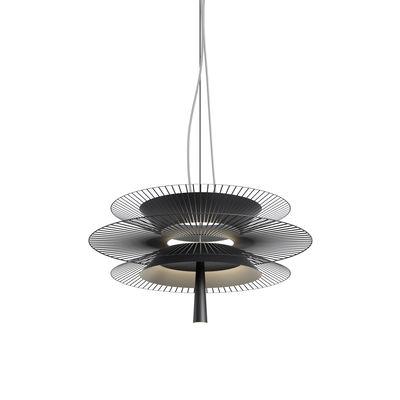 Lighting - Pendant Lighting - Gravity 2 LED Pendant - / Ø 68 x H 34.5 cm - Metal by Forestier - Black - Metal