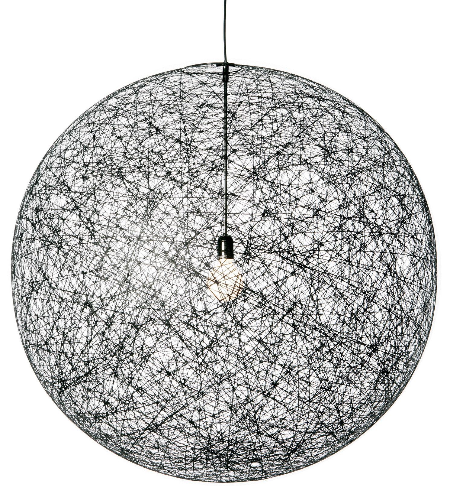 Lighting - Pendant Lighting - Random Light Pendant by Moooi - Black - Fibreglass