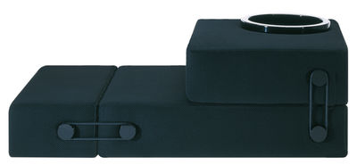 Arredamento - Mobili Ados  - Poltroncina convertibile Trix - Trasformabile in letto supplementare di Kartell - Nero - Poliestere, Poliuretano