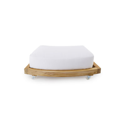 Repose-pieds / table basse à roulettes / Pour canapé rond Pevero - Unopiu bois naturel en bois