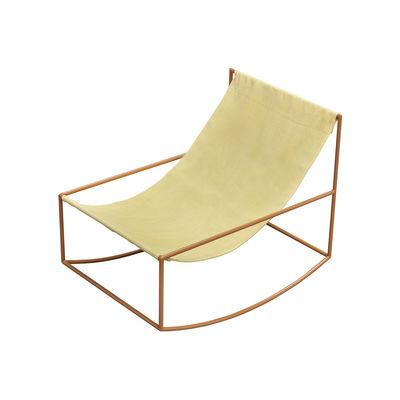 Rocking chair / Lin - valerie objects jaune en tissu