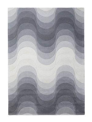 Decoration - Rugs - Wave Rug - / 170 x 240 cm -  Panton 1973 by Verpan - Grey - Wool