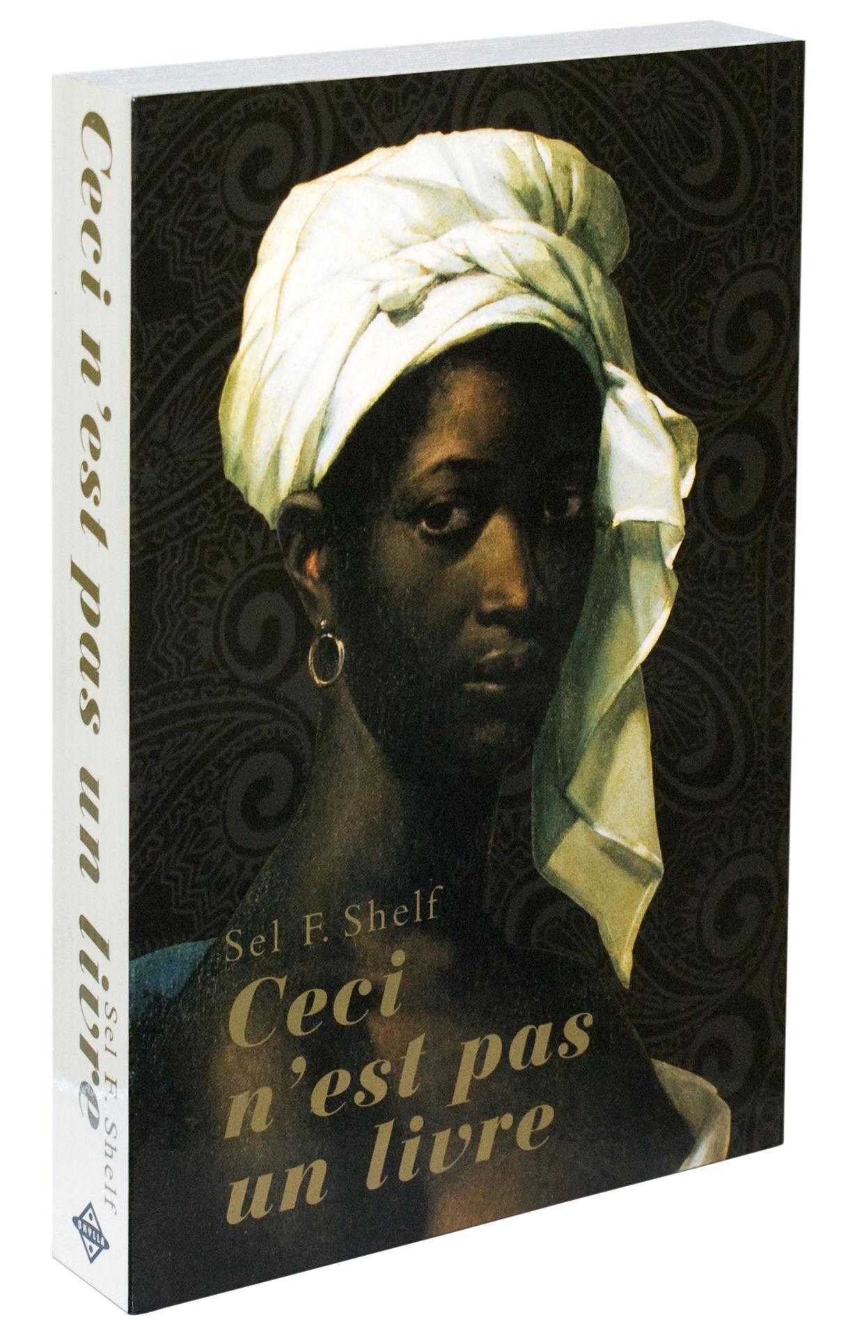 Furniture - Bookcases & Bookshelves - Self Shelf - Ceci n'est pas un livre Shelf - Optical illusion by Zho - Pop Corn - Woman / White turban - Painted wood