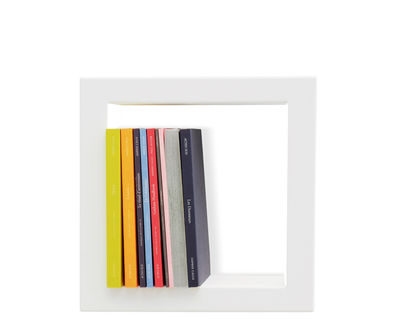 Furniture - Bookcases & Bookshelves - Stick Shelf - Lacquered sheet metal - 28 x 28 cm by Presse citron - White - Lacquered steel