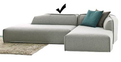 Möbel - Sofas - M.A.S.S.A.S. Sofa / mit Armlehne links - L 187 cm - Moroso - Hellgrau / Modul links - L 187 cm - Holz, Kvadrat-Gewebe, Polypropylen, Polyurethan-Schaum