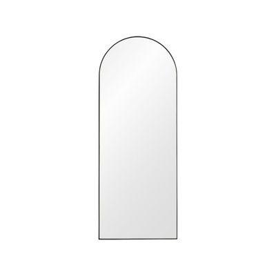 Interni - Specchi - Specchio murale Arcus Small - / H 90 cm - MDF di AYTM - H 90 cm / Nero - MDF tinto, Vetro