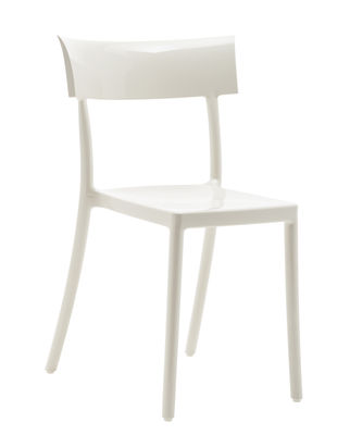 Furniture - Chairs - Generic Catwalk Stacking chair - / Polycarbonate by Kartell - White - Polycarbonate
