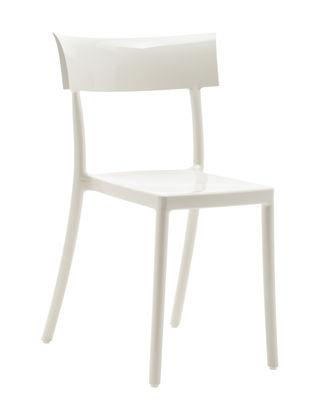 Möbel - Stühle  - Generic Catwalk Stapelbarer Stuhl / Polykarbonat - Kartell - Weiß - Polykarbonat