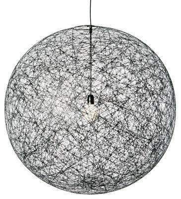 Luminaire - Suspensions - Suspension Random Light /  Large - Ø 110 cm - Moooi - Noir - Fibre de verre