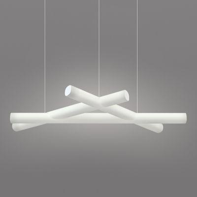 Luminaire - Suspensions - Suspension Mesh / 162 x 76 cm - Slide - Blanc - polyéthène recyclable