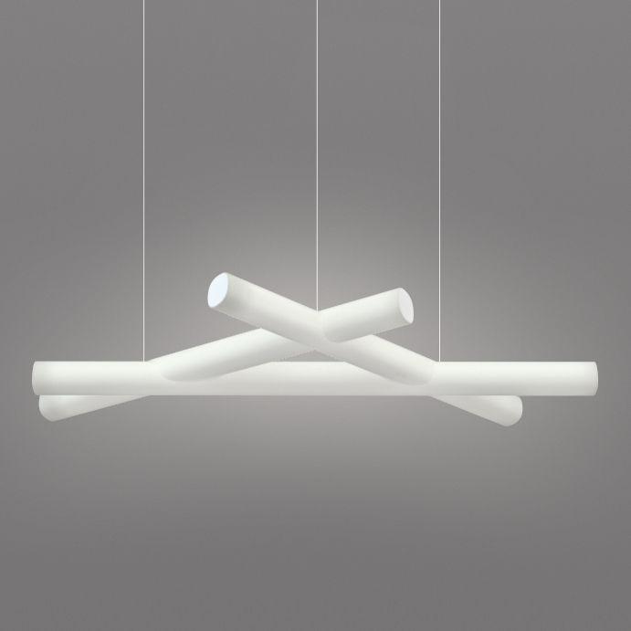 Luminaire - Suspensions - Suspension Mesh / 162 x 76 cm - Slide - Blanc - Polyéthylène
