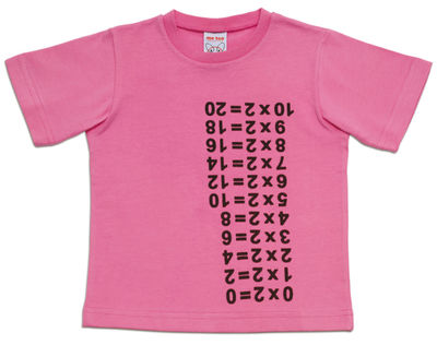 Decoration - Children's Home Accessories - Times Table T-shirt - / Medium 4 to 5 years by Magis Collection Me Too - Pink - Medium (4-5 years) - Cotton