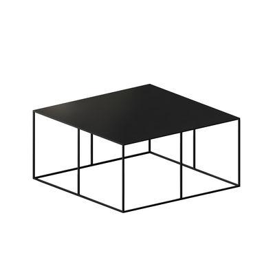 Mobilier - Tables basses - Table basse Slim Irony / 70 x 70 x H 34 cm - Zeus - Noir cuivré - Acier
