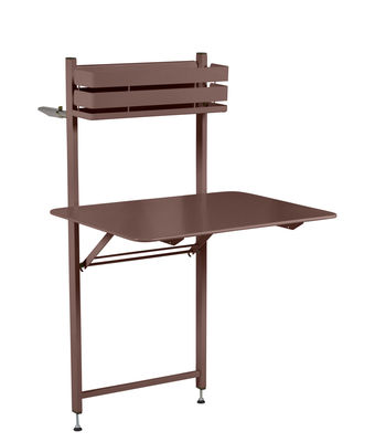 e7d9c8e6b5fbb Table pliante Balcon Bistro / Rabattable - 77 x 64 cm - Fermob rouille en  métal