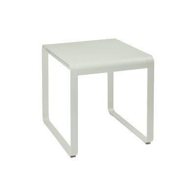 Table rectangulaire Bellevie / 74 x 80 cm - métal - Fermob gris argile en métal