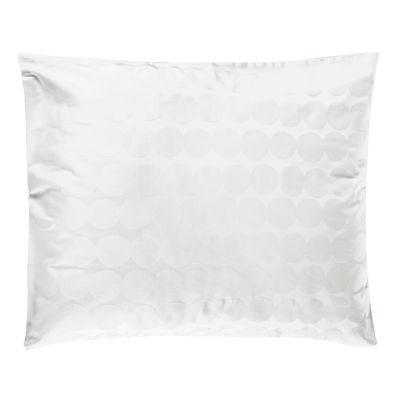 Natale Design - Piccoli prezzi - Federa 50 x 60 cm Räsymatto - / 50 x 60 cm di Marimekko - Räsymatto / Bianco - Coton satiné