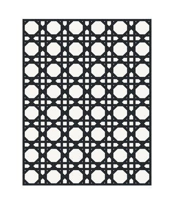 Déco - Tapis - Tapis d'extérieur Cannage / 99 x 150 cm - Vinyle - PÔDEVACHE - Noir - Vinyle